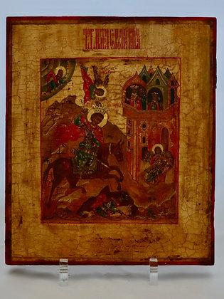 Russische Ikone | Heiliger Demetrios von Thessaloniki | 24751