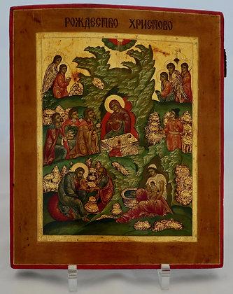 Russische Ikone   Geburt Christi (Weihnachten)   24744