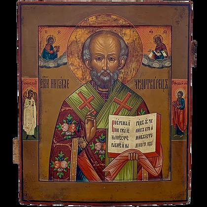 Russische Ikone | Heiliger Nikolaus von Myra
