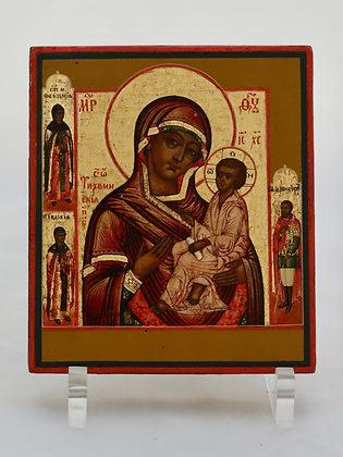 Russische Ikone | Gottesmutter von Tichwin | 24596