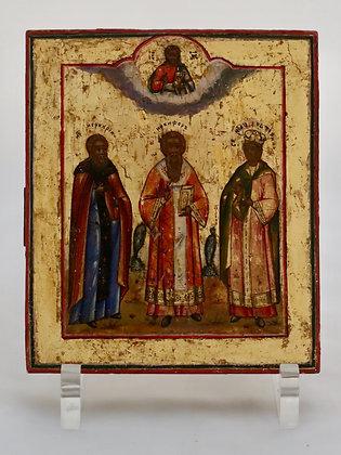 Russische Ikone   Drei Heilige   24460