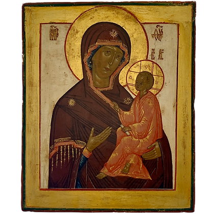Russian Icon   Mother of God of Tikhvin