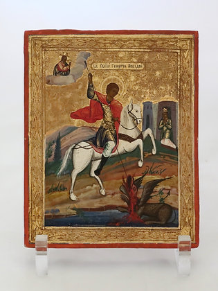 Russische Ikone | Heiliger Georg, der Siegreiche | 24709