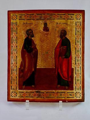 Russische Ikone | Heilige Apostel Petrus und Paulus | 24704