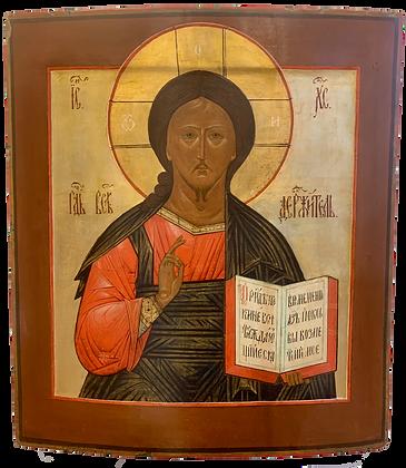 Russische Ikone   Christus Pantokrator