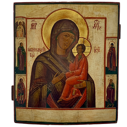Russische Ikone | Gottesmutter von Tichwin