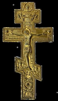 Russische Ikone | Metallikone | Kreuz