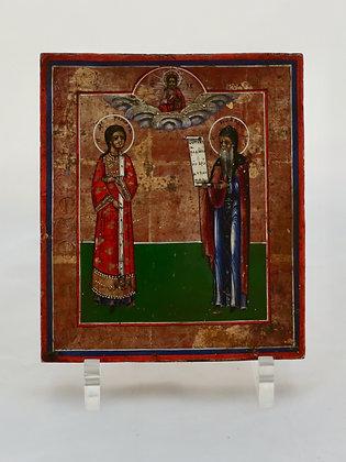 Russian Icon | Saint Romanos the Melodist & John of Damascus