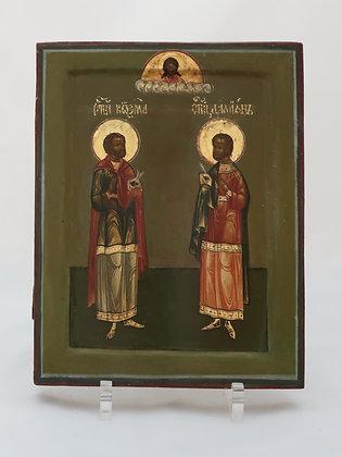 Russische Ikone | Heilige Kosmas und Damian | 24654