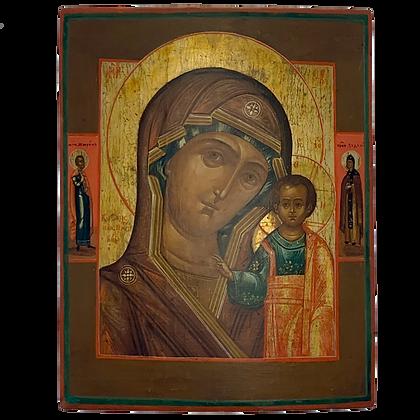 Russische Ikone | Gottesmutter von Kasan