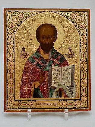 Russische Ikone | Heiliger Nikolaus von Myra | 24707