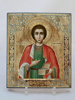 Russische Ikone   Heiliger Panteleimon   24712