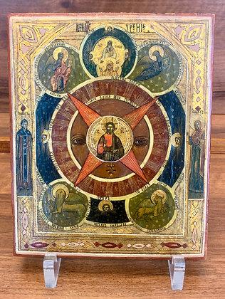 Russische Ikone | Das Allsehende Auge Gottes