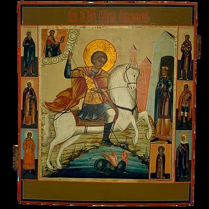 Russische Ikone | Heiliger Georg