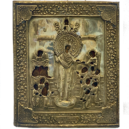 "Russian Icon | Mother of God ""Joy of all Oppressed"" 