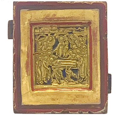 Russian Icon | Bronze Icon | Dormition of the Mother of God