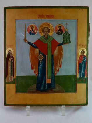 Russische Ikone | Heiliger Nikolaus | Palech | 20528