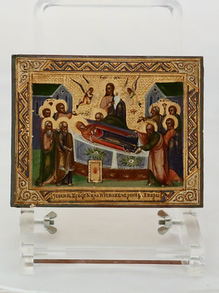 Russian Icon | Dormition of the Mother of God