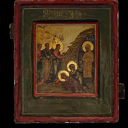 Russische Ikone | Auferweckung Lazarus