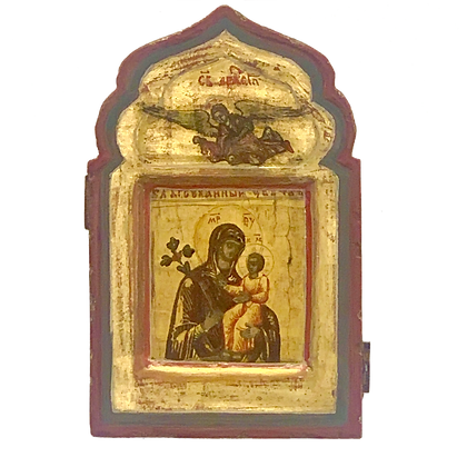 """Russian Icon   Mother of God """"Never-fading Flower"""""""