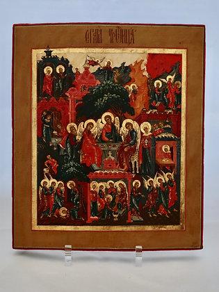 Russische Ikone   Heilige Dreifaltigkeit   24736