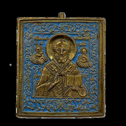 Russian Metal Icon | Saint Nicholas of Myra