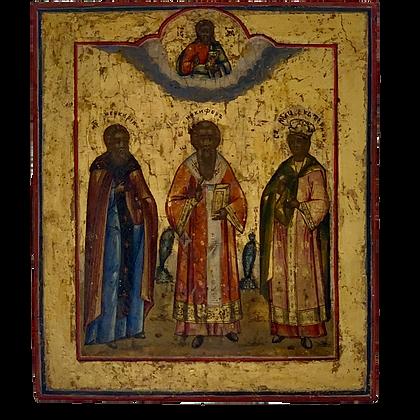 Russian Icon | Three Saints