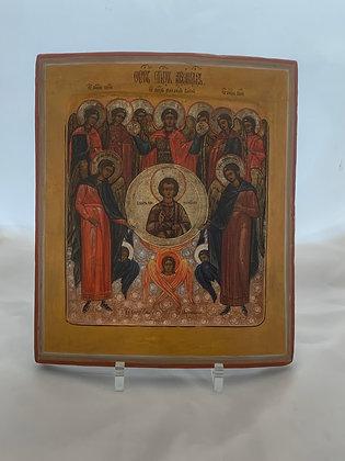 Russische Ikone | Synaxis des Erzengels Michael | 24764
