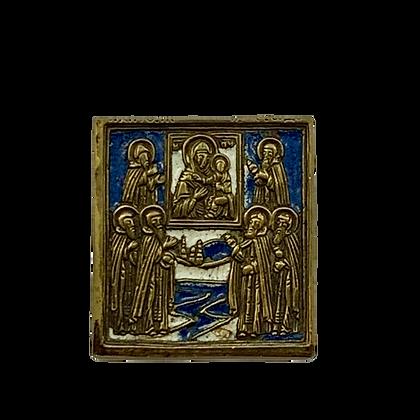 Russische Ikone | Metallikone | Gottesmutter von Smolensk