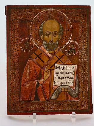 Russische Ikone | Heiliger Nikolaus von Myra | 24689