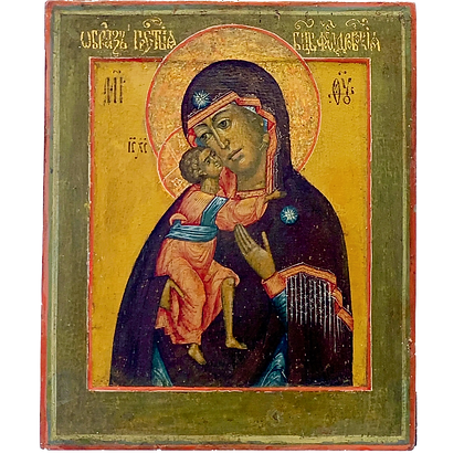 Russian Icon | Mother of God of Feodor