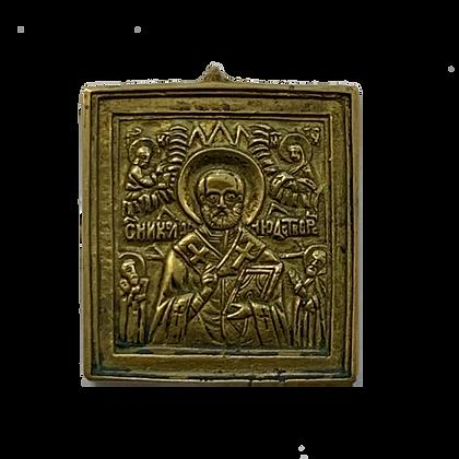Russian Icon | Bronze Icon | Saint Nicholas of Myra