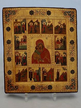 Russische Ikone   Gottesmutter vom Don   24793
