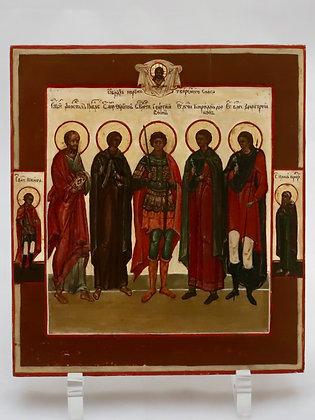 Russian Icon | 5 Saints
