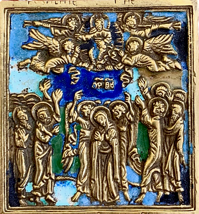 Russian Icon | Bronze Icon | Ascension of Christ