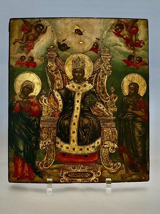 Russische Ikone | Thronender Christus Pantokrator (Deisis) | 24747
