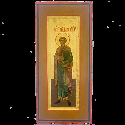 Russische Ikone | Heiliger Panteleimon