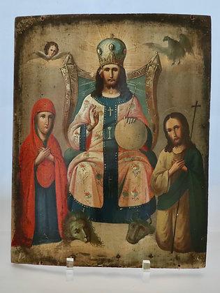 Russische Ikone | Thronender Christus Pantokrator