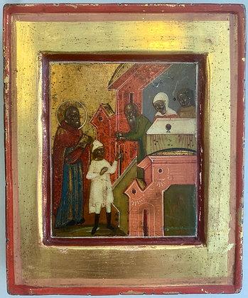 Russische Ikone | Szene aus der Vita des Hl. Nikolaus | 24722
