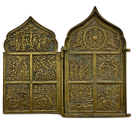 Russian Icon | Bronze Icon | Diptych