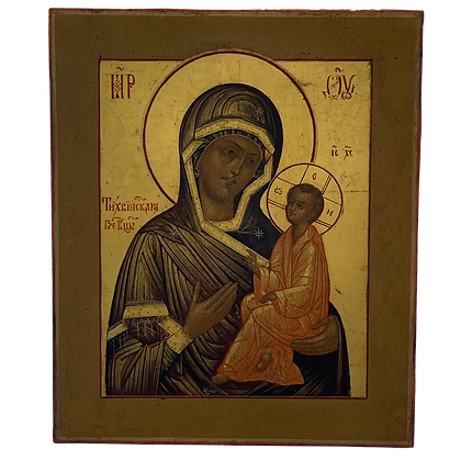 Russian Icon | Mother of God of Tikhvin