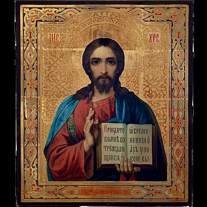 Russische Ikone | Christus Pantokrator