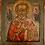 Thumbnail: Russische Ikone | Heiliger Nikolaus von Myra | mit Silberoklad | 24651