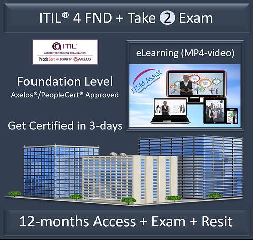 ITIL® 4 Foundation + Exam + Exam Resit