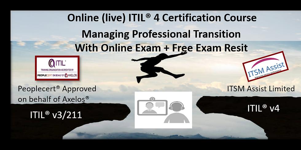ITIL® 4 MPT ONLINE LIVE