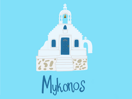 Mykonos Illustration