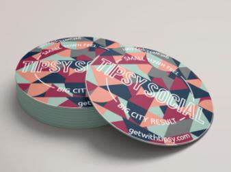 Tipsy Social Branded Coasters