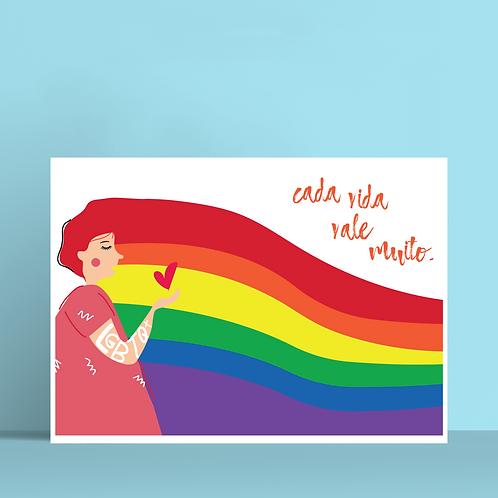 Print Cada Vida Vale | @jeffavelino.work
