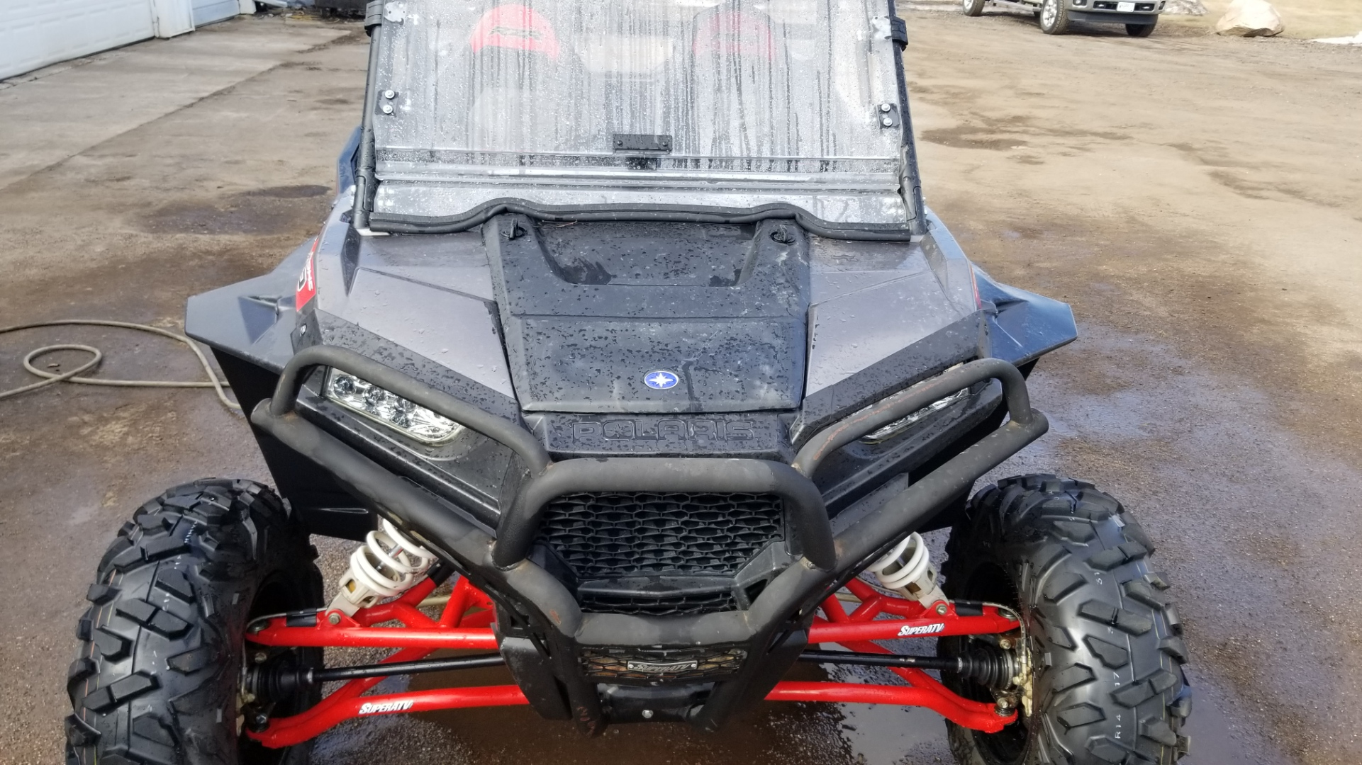 RZR Windshield and Bumpers