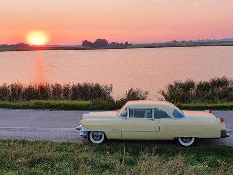 Sunset road trip
